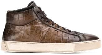 Santoni croc-effect sneakers