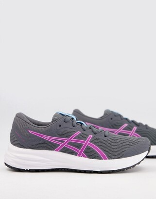 Asics Running Patriot 12 trainers in grey and purple