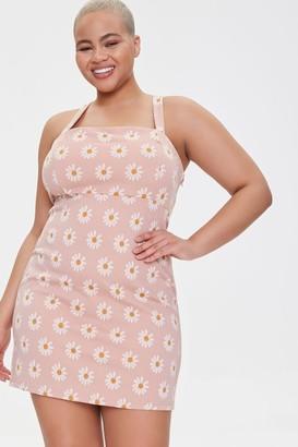 Forever 21 Plus Size Daisy Print Mini Dress