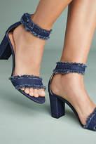 All Black On The Fringe Frayed Heels