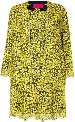 Christian Lacroix Pre Owned Floral Lace Dress & Jacket