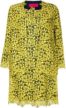 Christian Lacroix Pre-Owned floral lace dress & jacket