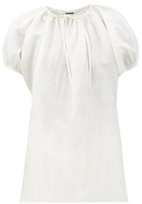 Jil Sander Ninette Linen-blend Top - Ivory