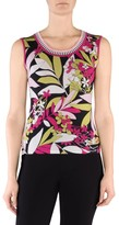 Stizzoli, Plus Size Floral Sleeveless Shell Top