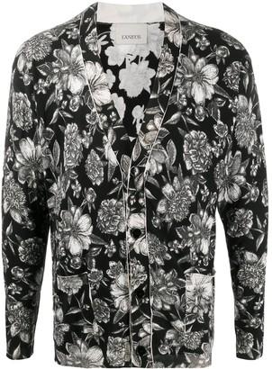 Laneus floral-print V-neck cardigan