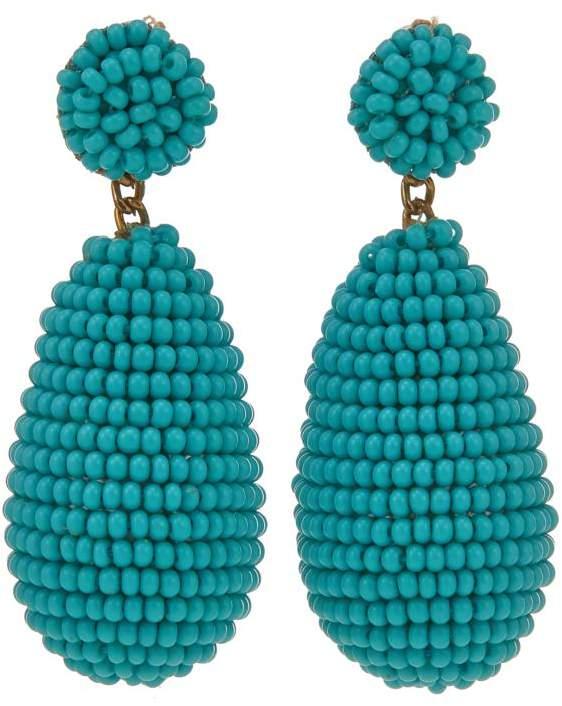Deepa Gurnani deepa by Seed Bead Teardrop Earrings