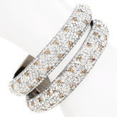Chamak by Priya Kakkar Bracelet, Clear and Topaz Crystal 1 ea