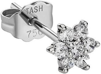 Maria Tash 5.5mm 18kt White Gold Diamond Flower Stud Earring