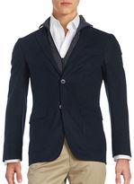 Black Brown 1826 Insulated Zip Gilet Sportcoat