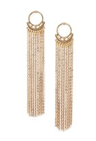Forever 21 Chain Fringe Drop Earrings