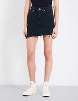 A Gold E AGOLDE Retrokgrade high-rise denim mini skirt