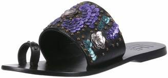 LFL by Lust for Life Women's L-Flawless Slide Sandal Black Leather 6 Medium US