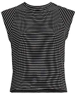 Frame Women's Le High-Rise Striped Muscle T-Shirt