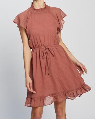 Atmos & Here Frida Dobby Ruffle Dress