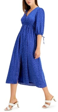 Thumbnail for your product : Taylor Petite V-Neck Printed Maxi Dress