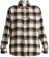 Saint Laurent Madras-checked long-sleeved cotton shirt