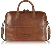 The Bridge Dark Brown Double Handle Briefcase