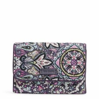 Vera Bradley Women's Signature Cotton Rfid Riley Compact Wallet