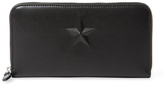 Givenchy Star Leather Zip Around Wallet