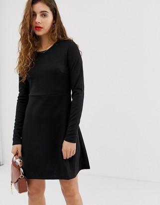 Pieces Wonder long sleeved skater dress