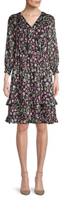 Nanette Nanette Lepore Ruffled Floral Peasant Dress