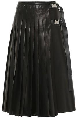 Prada Pleated leather skirt
