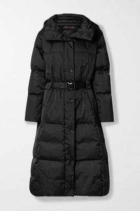 Fusalp Odette Belted Hooded Quilted Shell Down Coat - Black