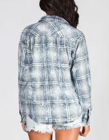 Vanilla Star Graph Bleached Plaid Womens Shirt