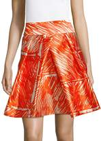 Milly Women's Abstract Pleated Skirt