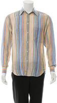 Brioni Striped Linen Shirt