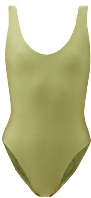 JADE SWIM Contour Scoop-back Swimsuit - Green