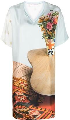 Walter Van Beirendonck Pre-Owned silk T-dress