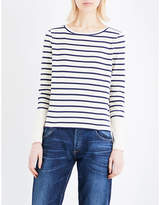 Whistles Striped cotton-jersey top