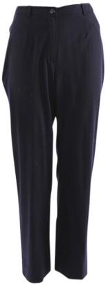 Chanel Blue Wool Trousers