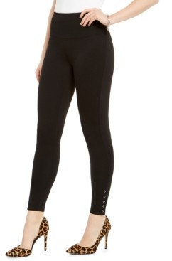 INC International Concepts Inc Ponte-Knit Ankle Grommet Leggings, Created for Macy's