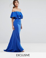 Jarlo Off Shoulder Maxi Dress With Frill Top