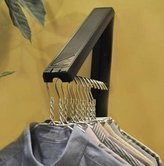 Arrow Hanger Instahanger Plastic Cloths Hanger - AH12BK/M