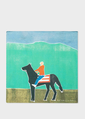 Paul Smith X Tom Hammick - 'Horse and Boy' Print Silk Pocket Square