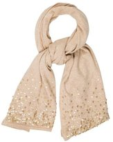 Magaschoni Embellished Cashmere Scarf