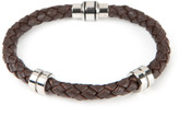 Ted Baker Thick Leather Bracelet Chocolate