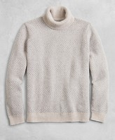 Brooks Brothers Golden Fleece Wool-Cashmere Striped Turtleneck Sweater