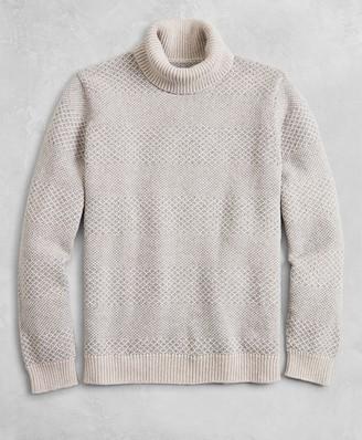 Brooks Brothers Golden Fleece Wool-Cashmere Striped Turtleneck Sweater