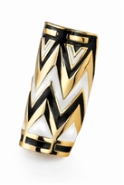 House Of Harlow Enameled Tribal Wrap Ring in Black and White