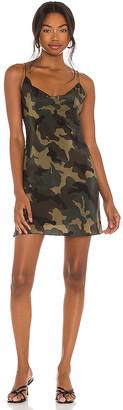 Alice + Olivia Harmony Drapey Mini Slip Dress