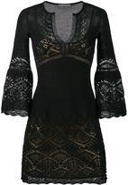 Alberta Ferretti crochet V-neck dress - women - Cotton/Polyester - 38