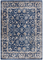 """Blue Area Well Woven Amba Sonoma Traditional Distressed Rug, 3'11""""x5'7"""