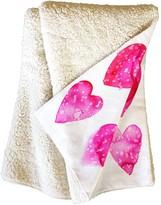 Deny Designs Amy Sia Heart Speckle Fleece Throw Blanket