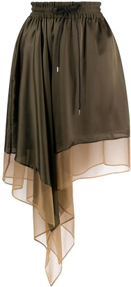 Sacai Draped Side Skirt