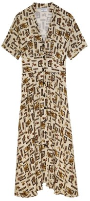 Claudie Pierlot Scarf Print Shirt Dress