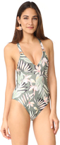 MinkPink Shady Fronds One Piece Swimsuit